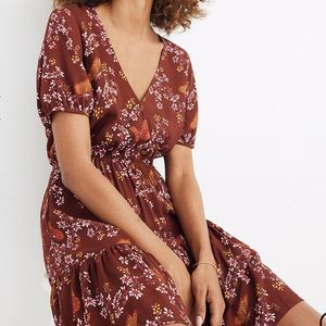 Madewell Printed Ruffle Butterfly Floral Dress